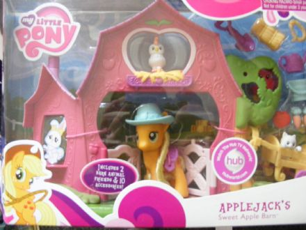 BNIB MY LITTLE PONY APPLEJACKS SWEET APPLE BARN